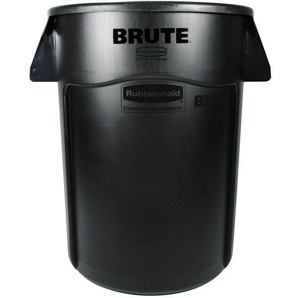 rubbermaid fg264360bla brute 44 gallon black executive trash can - Rubbermaid Trash Cans