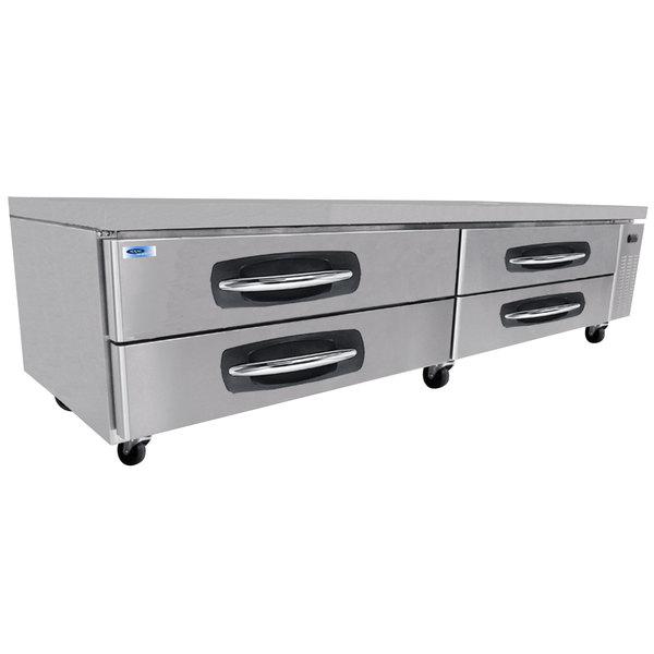 "Nor-Lake NLCB96 AdvantEDGE 96 1/16"" 4 Drawer Refrigerated Chef Base"
