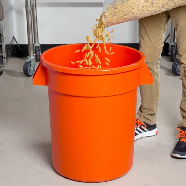 Carlisle 34102024 Bronco 20 Gallon Orange Trash Can