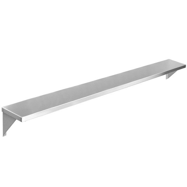 """Eagle Group TS-HT6 94 1/2"""" x 10"""" Stainless Steel Solid Tray Slide with Stationary Brackets Main Image 1"""