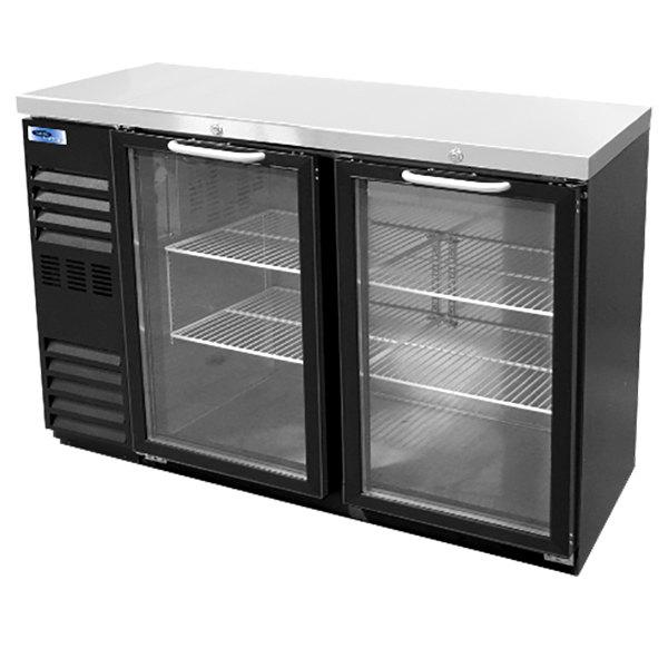 """Nor-Lake NLBB48NG 48 1/8"""" Black Glass Door Narrow Back Bar Refrigerator"""