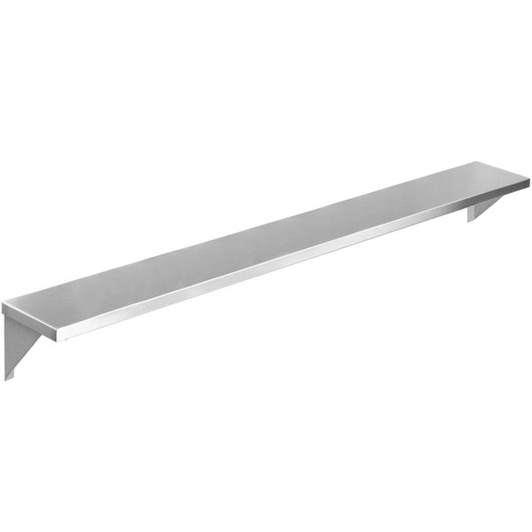 "Eagle Group TS-HT5 79"" x 10"" Stainless Steel Solid Tray Slide with Stationary Brackets Main Image 1"