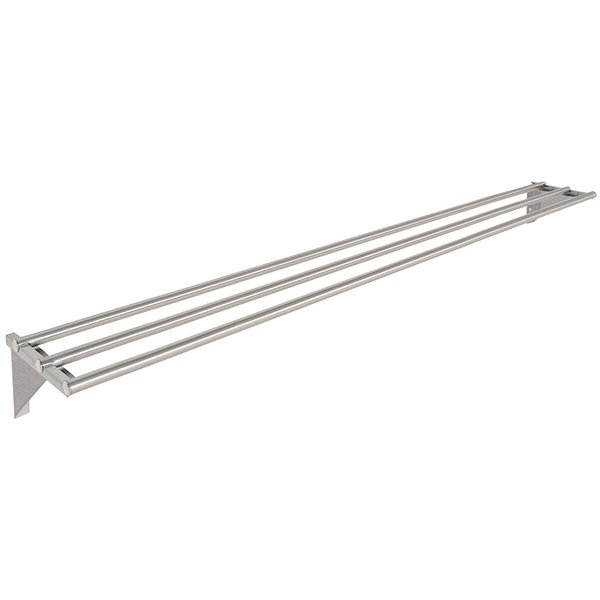 "Eagle Group TSL-HT5 79"" x 10 1/2"" Stainless Steel Tubular Tray Slide with Stationary Brackets"