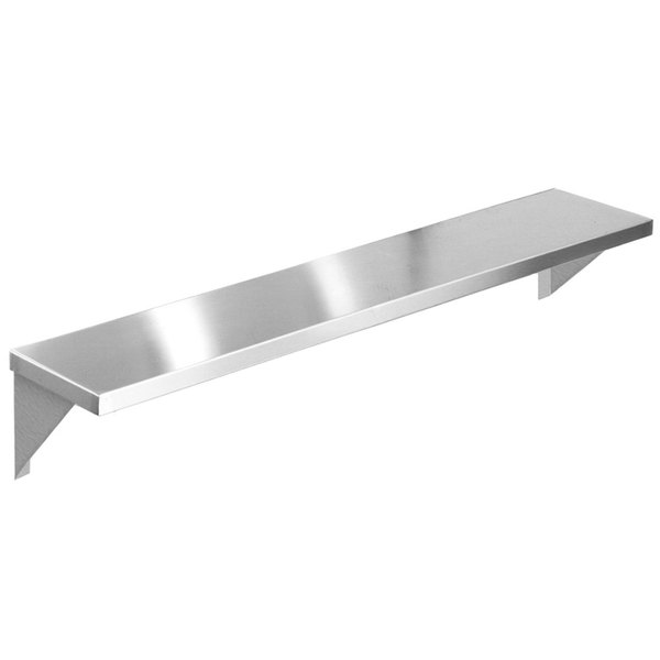 """Eagle Group TS-HT3 48"""" x 10"""" Stainless Steel Solid Tray Slide with Stationary Brackets"""