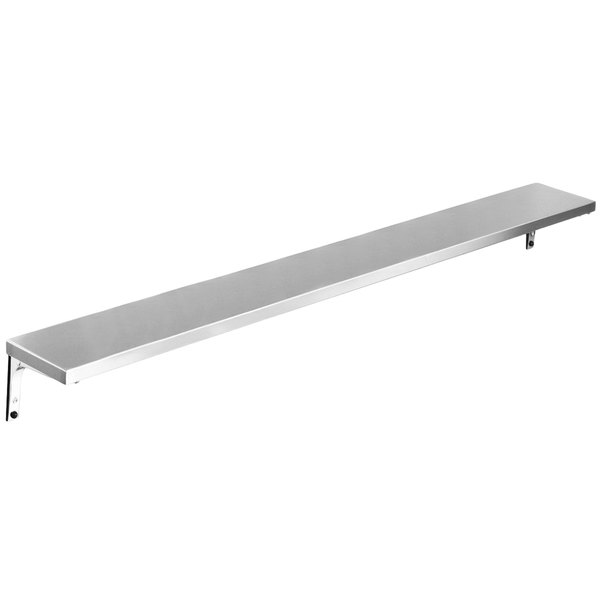 "Eagle Group TS-DB-HT5 79"" x 10"" Stainless Steel Solid Tray Slide with Drop Brackets"