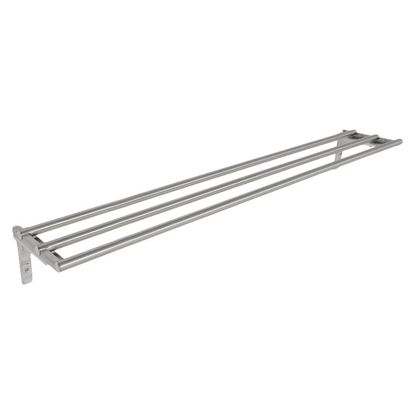 "Eagle Group TSL-DB-HT2 33"" x 10 1/2"" Stainless Steel Tubular Tray Slide with Drop Brackets"