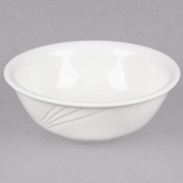 CAC GAD-82 Garden State 60 oz. Bone White Porcelain Bowl - 12/Case