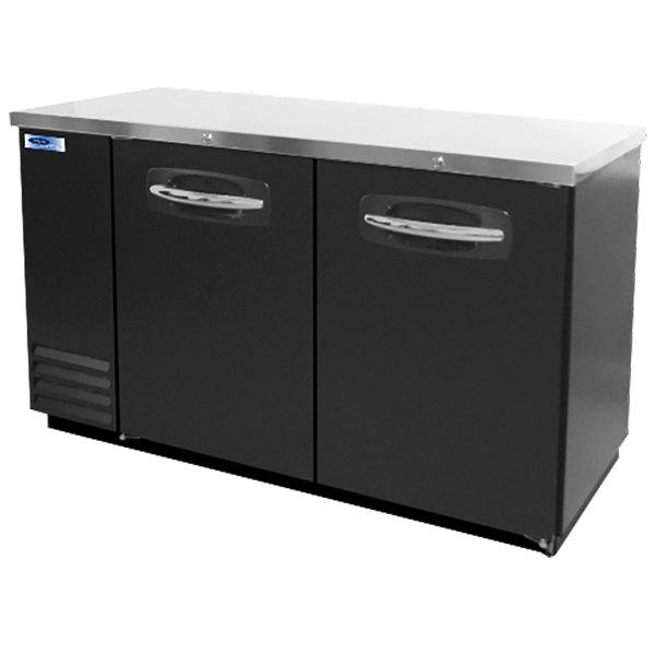 "Nor-Lake NLBB59 59"" Black Solid Door Back Bar Refrigerator Main Image 1"