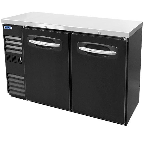 "Nor-Lake NLBB48N 48 1/8"" Black Solid Door Narrow Back Bar Refrigerator Main Image 1"