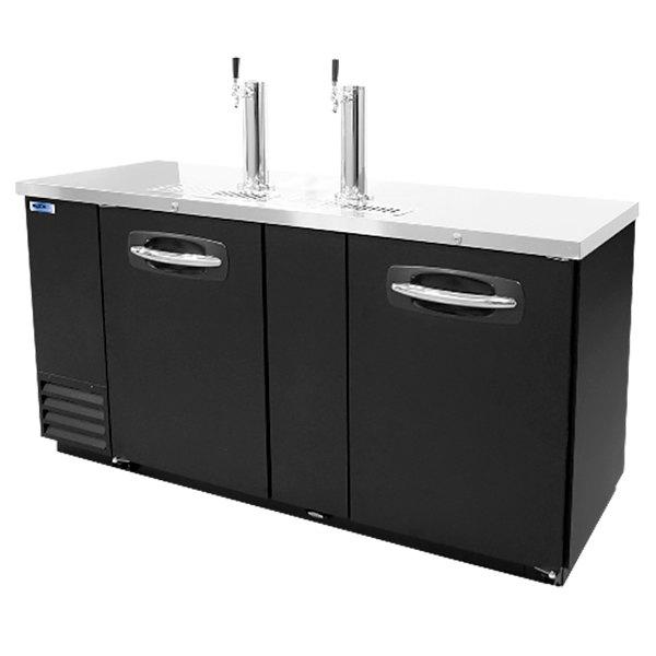 Nor-Lake NLDD69 Double Tap Kegerator Beer Dispenser - Black, (3) 1/2 Keg Capacity Main Image 1