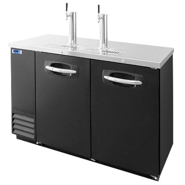 Nor-Lake NLDD59 Double Tap Kegerator Beer Dispenser - Black, (2) 1/2 Keg Capacity Main Image 1