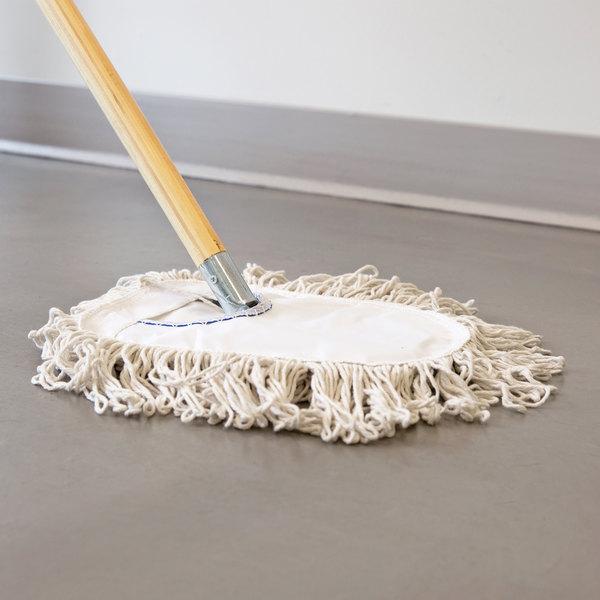 "Carlisle 36490R00 9"" Wedge Dry Dust Mop Pad"