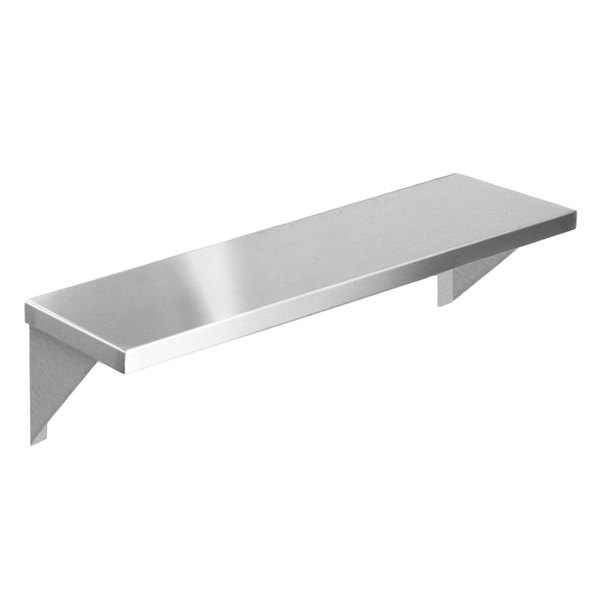 """Eagle Group TS-HT2 33"""" x 10"""" Stainless Steel Solid Tray Slide with Stationary Brackets"""
