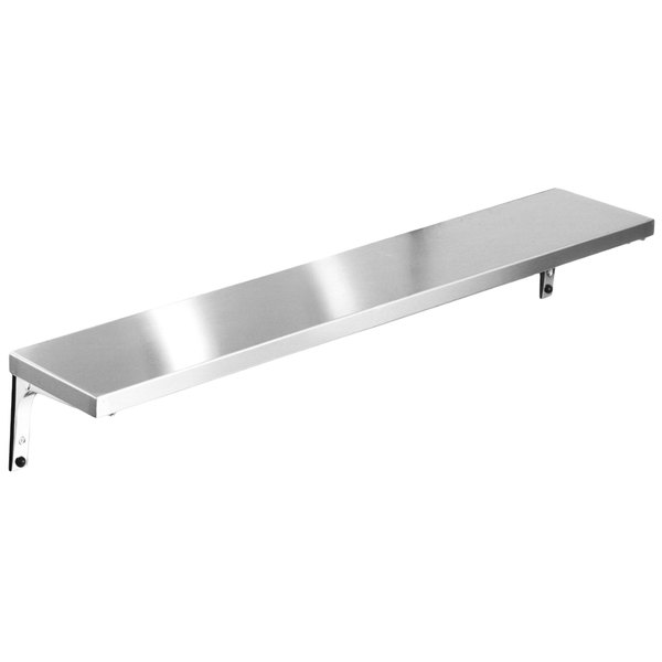 "Eagle Group TS-DB-HT3 48"" x 10"" Stainless Steel Solid Tray Slide with Drop Brackets"