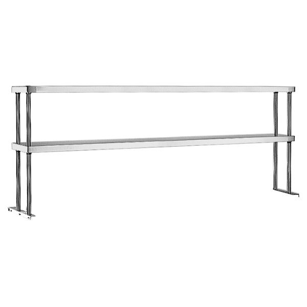 """Eagle Group DOS-HT5 Stainless Steel Double Deck Overshelf - 79"""" x 10"""" Main Image 1"""