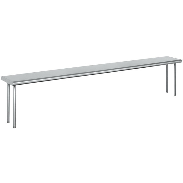 """Eagle Group OS-HT6 Stainless Steel Single Deck Overshelf - 94 1/2"""" x 10"""""""
