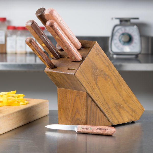 Dexter-Russell 20150 Traditional 7-Piece Slant Knife Block Set with Rosewood Handles
