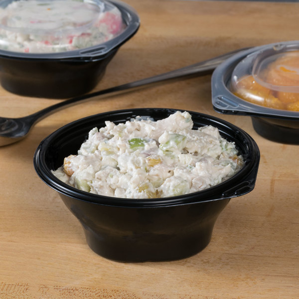 Fabri-Kal FC8B SideKicks 8 oz. Microwaveable Side Dish Bowl / Container - 75/Pack Main Image 6