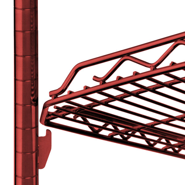 """Metro HDM2448Q-DF qwikSLOT Drop Mat Flame Red Wire Shelf - 24"""" x 48"""""""