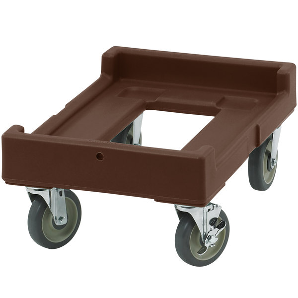 Cambro CD160131 Dark Brown Camdolly for Cambro Camcarriers Main Image 1