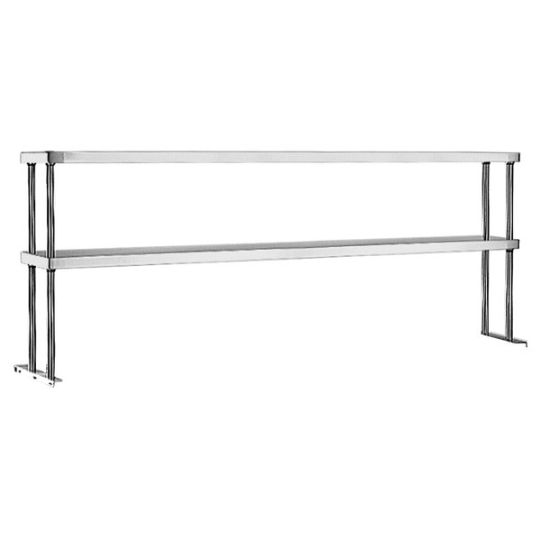 "Eagle Group DOS-HT6 Stainless Steel Double Deck Overshelf - 94 1/2"" x 10"""