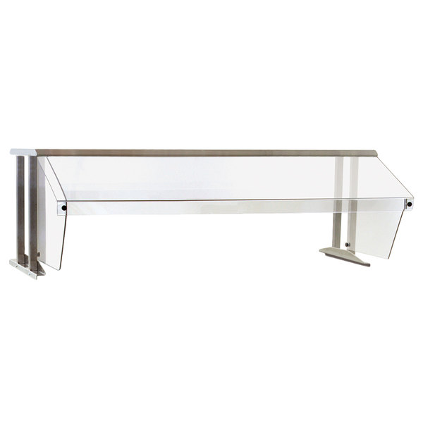 "Eagle Group BS1-HT3-IL Stainless Steel Buffet Shelf with Sneeze Guard and Infrared Lamps - 48"" x 25 5/8"""