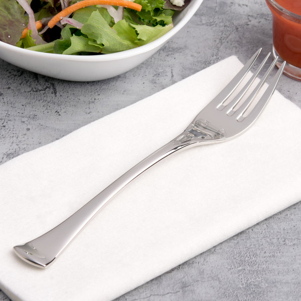 """Chef & Sommelier T5129 Diaz 7 1/4"""" 18/10 Stainless Steel Extra Heavy Weight Salad Fork by Arc Cardinal - 36/Case"""