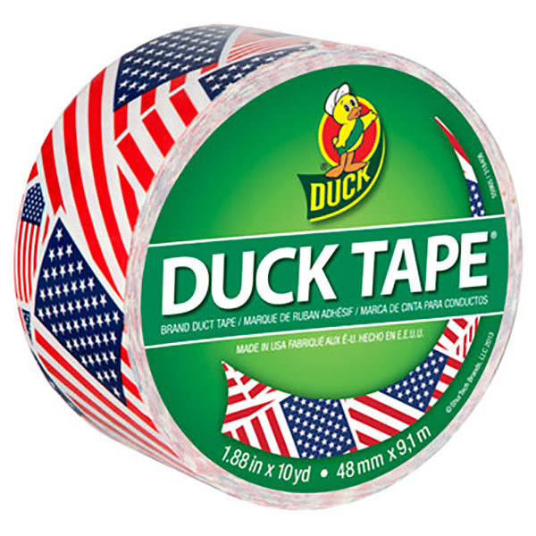 """Duck Tape 283046 1 7/8"""" x 10 Yards Colored U.S.A. Flag Duct Tape"""