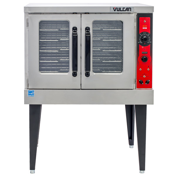 Vulcan VC5ED 12D1 Single Deck Full Size Electric Convection Oven With Legs 240V 3 Phase 12 KW