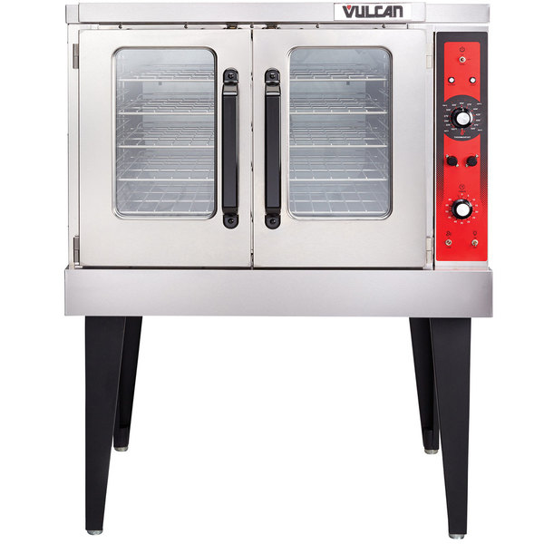 Vulcan VC5ED-11D1 Single Deck Full Size Electric Convection Oven with Legs - 208V, 3 Phase, 12 kW