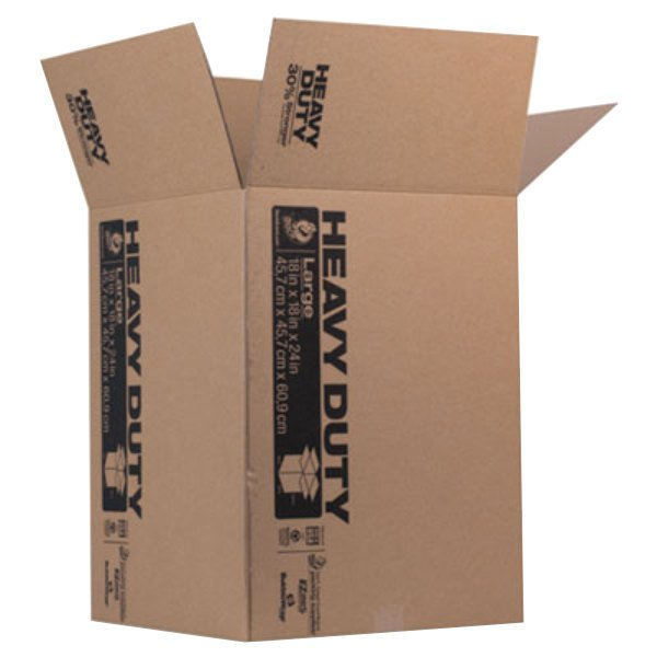 "Duck 280727 18"" x 18"" x 24"" Brown Heavy-Duty Moving / Storage Box Main Image 1"