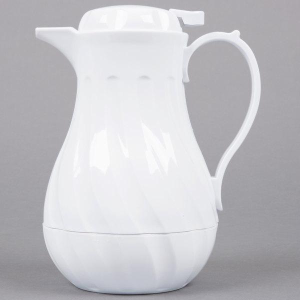 Choice VSW-20W 0.6 Liter White Swirl Thermal Coffee Server