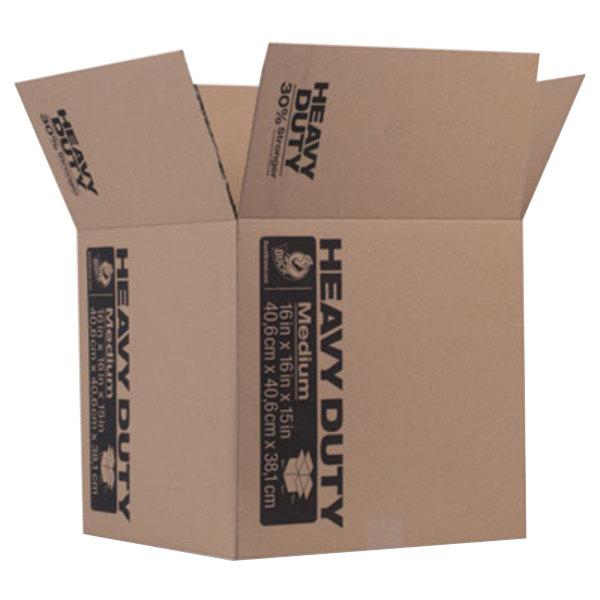 "Duck 280728 16"" x 16"" x 15"" Brown Heavy-Duty Moving / Storage Box Main Image 1"
