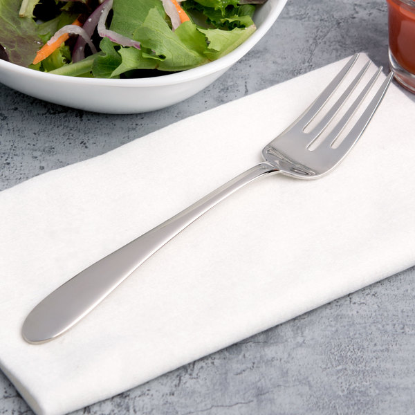 """Arcoroc T1729 Hotel 7"""" 18/10 Stainless Steel Extra Heavy Weight Salad Fork by Arc Cardinal - 12/Case"""