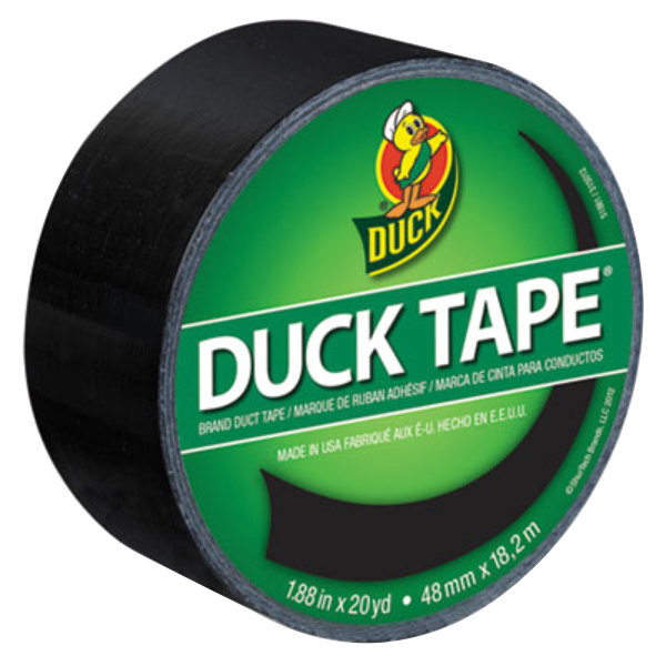 "Duck Tape 1265013 1 7/8"" x 20 Yards Colored Black Duct Tape"