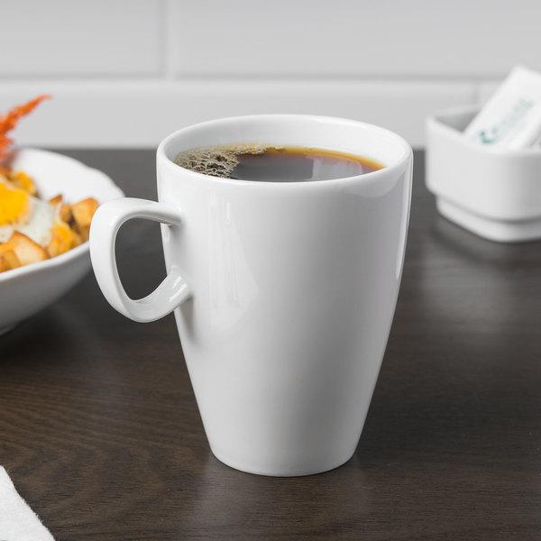 Schonwald 9395278 Grace 9.5 oz. Continental White Porcelain Mug - 6/Case