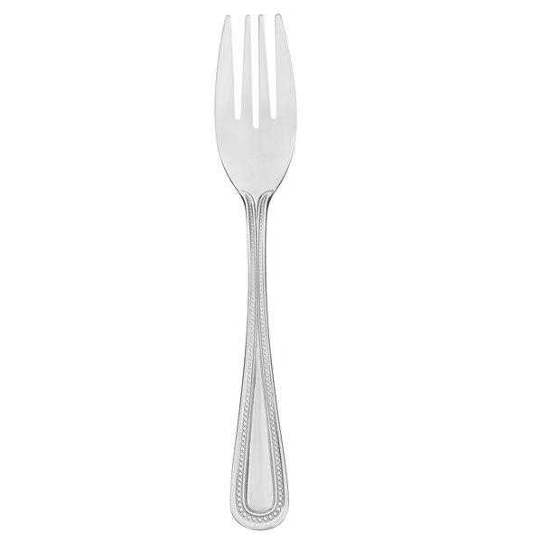 Core Milton 6 1/2 inch 18/0 Stainless Steel Medium Weight Salad Fork - 12/Case