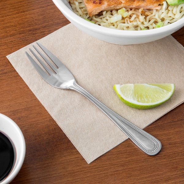 "Choice Milton 6 1/2"" 18/0 Stainless Steel Medium Weight Salad Fork - 12/Case Main Image 5"