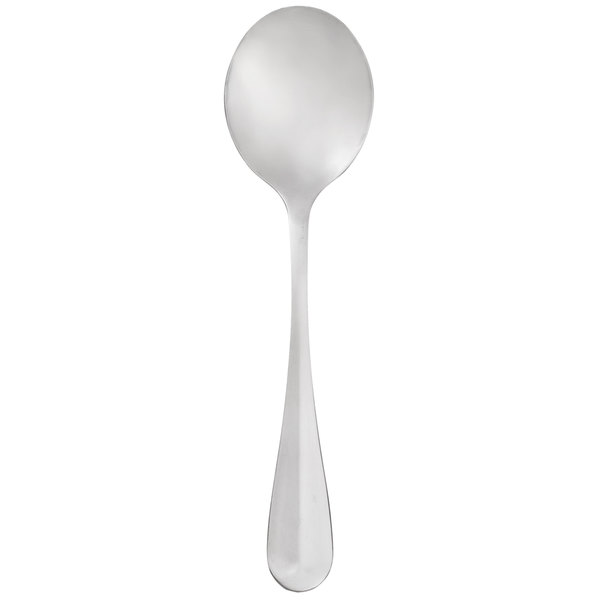 Core Midland 6 inch 18/0 Stainless Steel Medium Weight Bouillon Spoon - 12/Case