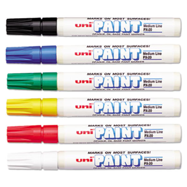 Uni-Paint Markers 63630 6 Assorted Medium Point Markers Main Image 1
