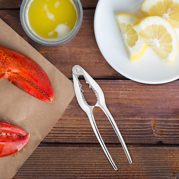 "Choice 5 3/4"" Single-Jaw Zinc-Plated Steel Lobster Cracker"