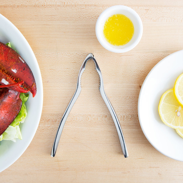 "Choice 6 1/2"" Stainless Steel Double-Jaw Heavy-Duty Lobster Cracker"