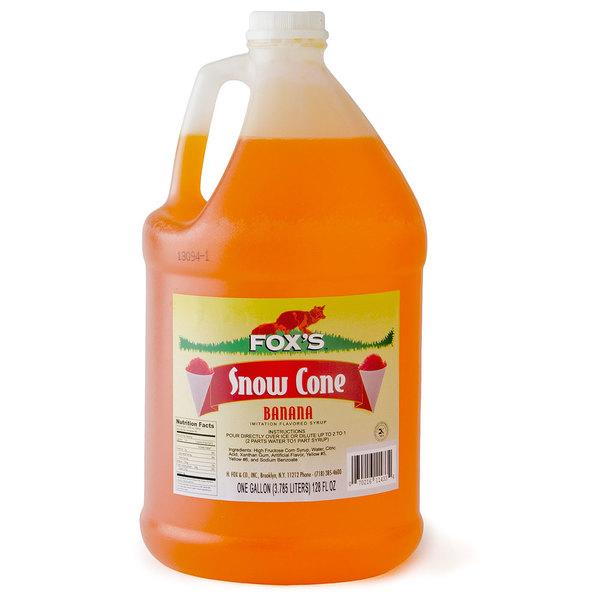 Fox's 1 Gallon Banana Snow Cone Syrup