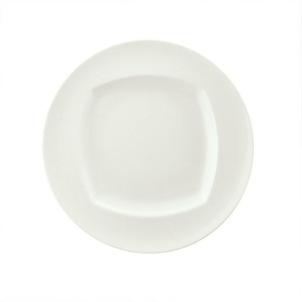"Schonwald 9320017 Event 6 5/8"" Continental White Porcelain Plate - 12/Case"