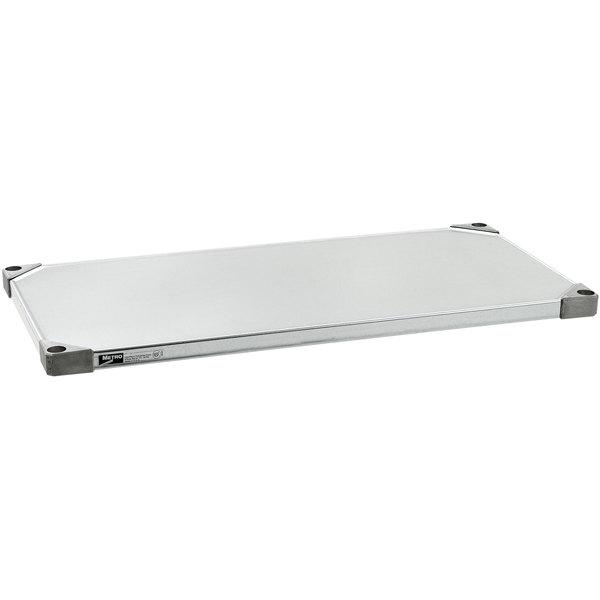 "Metro 1836FG 18"" x 36"" 18 Gauge Flat Galvanized Solid Shelf"