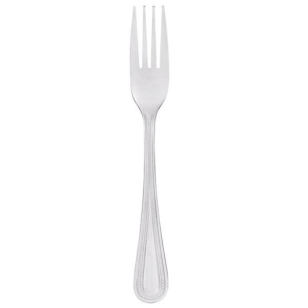 Core Milton 7 1/2 inch 18/0 Stainless Steel Medium Weight Dinner Fork - 12/Case