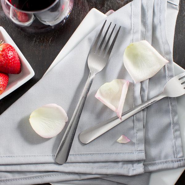 "Choice Windsor 7"" 18/0 Stainless Steel Medium Weight Dinner Fork - 12/Case"