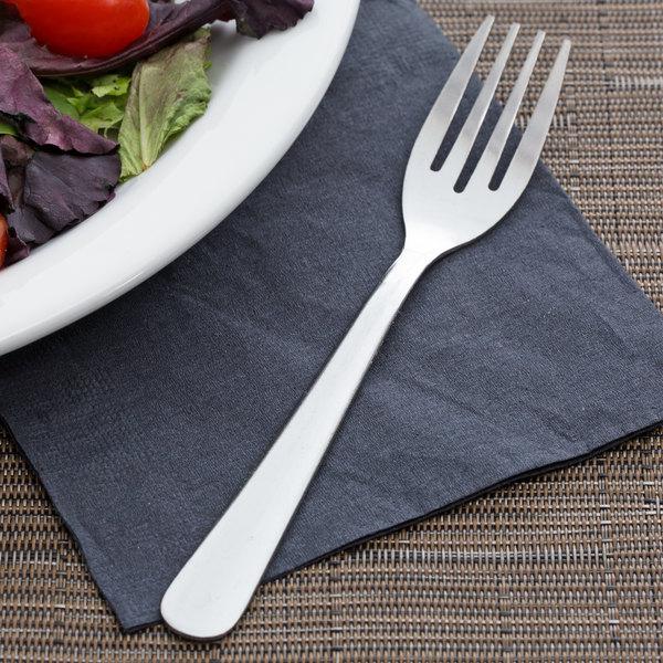 "Choice Windsor 6 1/8"" 18/0 Stainless Steel Medium Weight Salad Fork - 12/Case"
