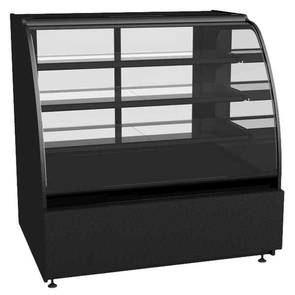 "Structural Concepts Encore HV56R Refrigerated Merchandiser / Deli Case 58"" - Full Service Black 120V - 22.33 Cu. Ft. Main Image 1"