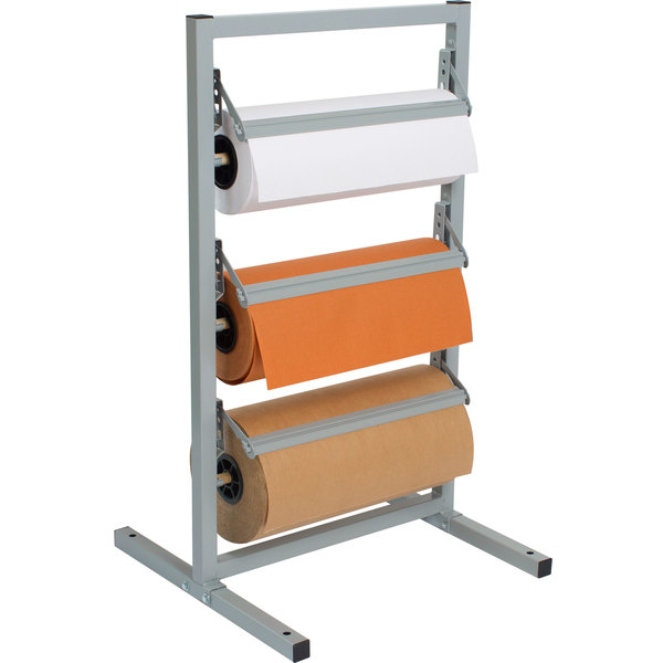 """Bulman T343R-12 12"""" Three Deck Tower Paper Rack with Serrated Blade"""